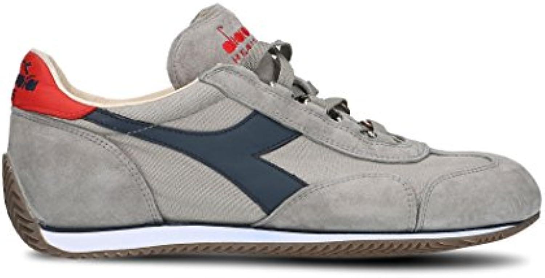 Diadora Heritage Herren 156988EQUIPEC4828 Grau Baumwolle Sneakers