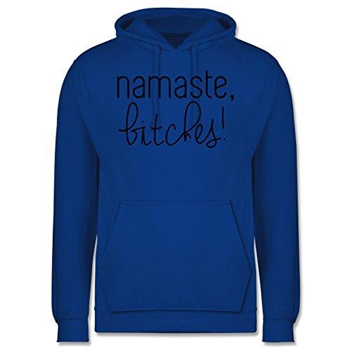 Statement Shirts - Namaste, Bitches! - Männer Premium Kapuzenpullover / Hoodie Royalblau