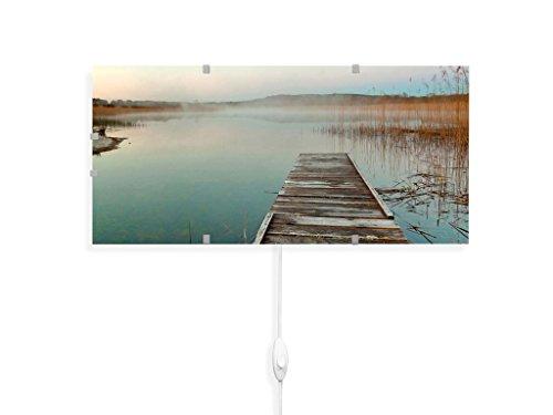 banjado YOURDEA - Wandleuchten Wechsel Scheibe für IKEA GYLLEN 56cm mit Motiv: Am See