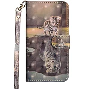 Dclbo Hülle für Huawei P40 Lite, Handyhülle Tasche Schutzhülle Leder Brieftasche Case Lederhülle Magnetverschluss Bunt Hülle Flip Klapphülle Handytasche für Huawei P40 Lite-6 Muster