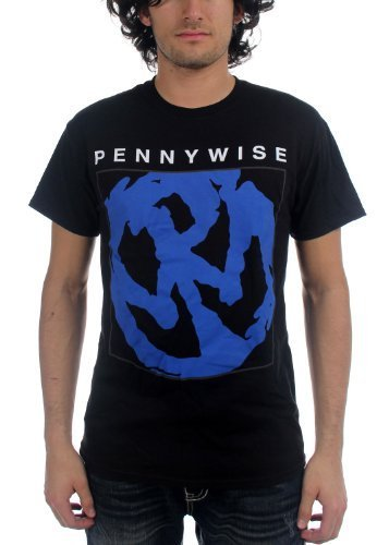 Pennywise - Uomo Blue Logo T-Shirt, Large, Nero