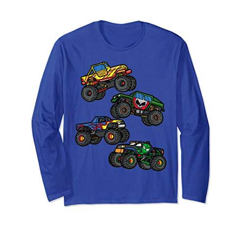 Monster Truck Gift for Kids- Assorted Boys Monster Truck  Langarmshirt