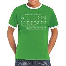 Touchlines - Camiseta de manga corta para hombre, diseño de la tabla periódica de elementos