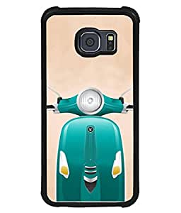 Samsung Galaxy S6 Edge, Samsung Galaxy S6 Edge G925, Samsung Galaxy S6 Edge G925I G9250 G925A G925F G925Fq G925K G925L G925S G925T Back Cover Scooter Sketch Design From FUSON