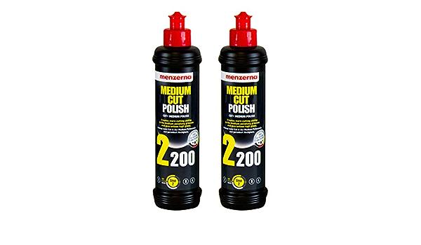 Menzerna 2x Medium Cut Polish 2200 Schleifpolitur Politur Schleifpaste 250 Ml Auto