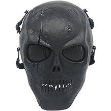 Ecloud Shop Máscara Protectora Negro Craneo Militar Amenazador Duradero
