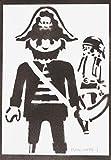 Klicky Pirat Playmobil Poster Plakat Handmade Graffiti Street - Artwork