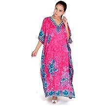 Maxi-robe Pyjama Tunique Kimono Kaftan grande taille pour femme 38–56