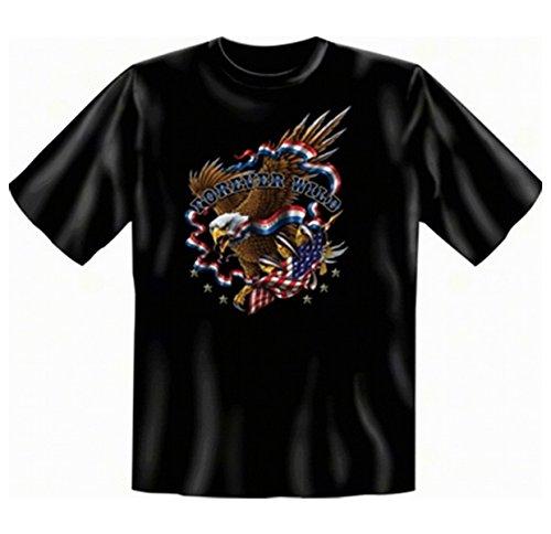 """geil bedrucktes Biker & Motorrad T-Shirt """" Forever Wild ! """" Schwarz"""