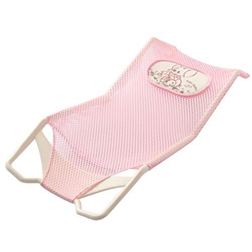 YRE Baby-Schlitten-Badezimmer-Duschbett, Neugeborenes Netzbetaschen-Bad-Duschregal, Kinder-Badewannen-Waschbecken,Pink