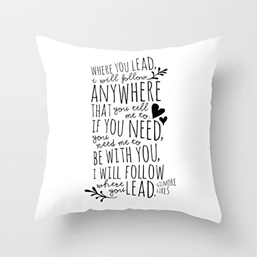 Hugpillows Dekorativer Kissenbezug Gilmore Girls Leit-Thema, 45,7 x 45,7 cm