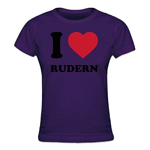 Shirtcity I Love Rudern Frauen T-Shirt by