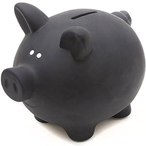 GOODS+GADGETS Sparschwein aus Keramik zum Beschriften mit Kreide – Kreidetafel Spardose Sparbüchse