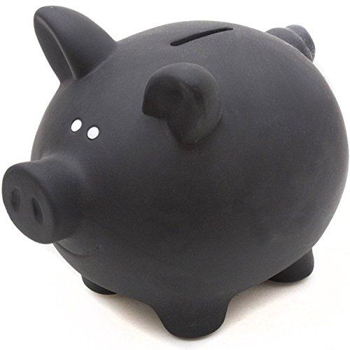 Sparschwein aus Keramik zum Beschriften mit Kreide - Kreidetafel Spardose Sparbüchse