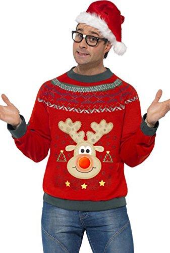 Da uomo Maglione Costume Adulti feste Natale caldo maglione Multi M