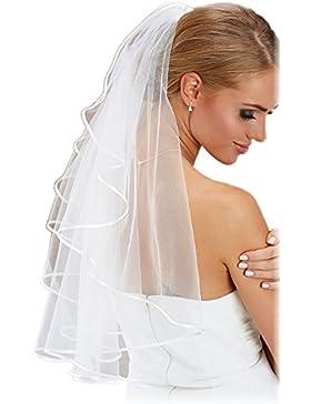 BrautChic Velo de novia - Maravillosamente UNIVERSALES - Se adapta a casi todos los Vestidos de novia - CALIDAD...