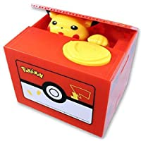 Pikachu Mechanical Coin Bank For Kids - Awesome, Unique Toy For Pokemon Fans - Delights With Realistic Movements and Colorful Designs - Teaches Kids To Save - Perfect As Kids Birthday Presents