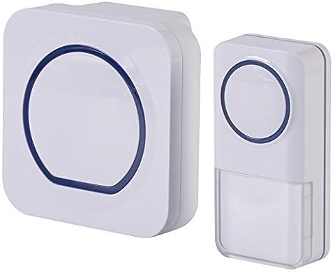P.I. Home Store Premium Electronic Wireless Plug in Doorbell . 1X1. New 2017 door bell with best features. Waterproof to IP54