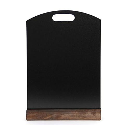 A3 Double face tableau noir arrondi avec table en bois massif, fond Code IA3TB