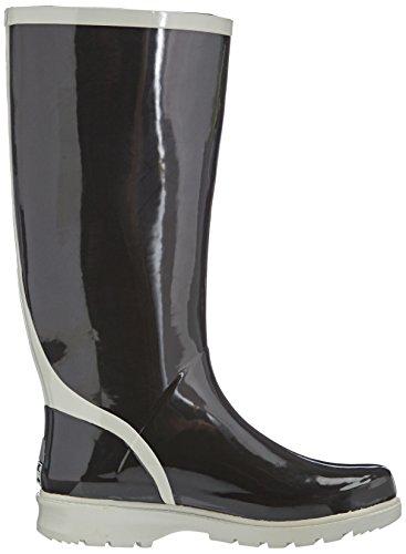 Playshoes Wellies Wellington Boots, Bottes de Neige femme Noir - Black - Schwarz (schwarz/grau 796)