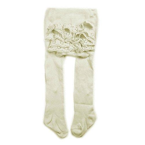 Herrlich Rüschen Strumpfhose von Soft-Touch- - Ivory - 6-12 Months (Designer-strumpfhosen)