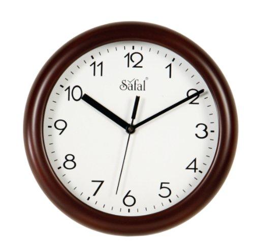 Safal Wooden Wall Clock (23cm x 23cm, Brown)