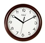 Safal Wooden Wall Clock (23cm x 23cm, Br...