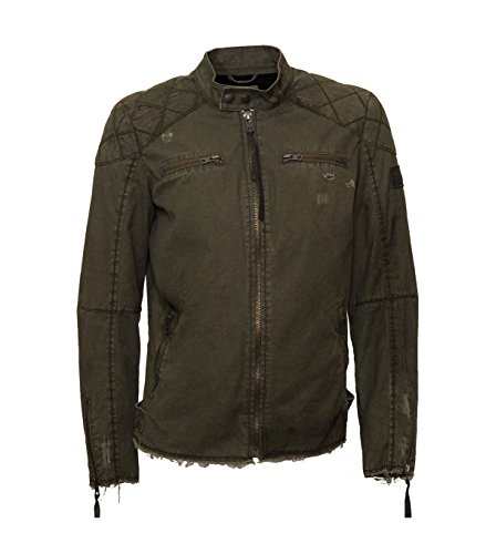 TIGHA Herren Jacke Trey im Vintage-Look grün Military Green M