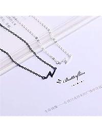 9c00579e68e9 CFHJN Home Moda Mujer 925 Collar de Colgantes de Plata Esterlina Simple y  Dulce Regalo Mini