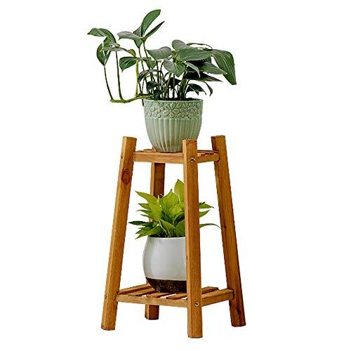 Étagère à Fleurs en Bois Massif, Support pour Plantes, Support Peut décorer Salon, Chambre à Coucher, Cuisine, Jardin extérieur