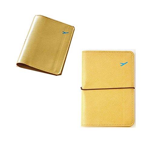 De cuero del pasaporte del recorrido Holder, carpeta de la tarjeta de