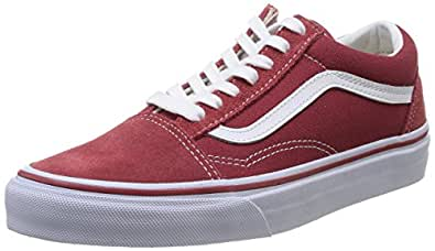vans u old skool damen sneaker rot rouge brick red true. Black Bedroom Furniture Sets. Home Design Ideas