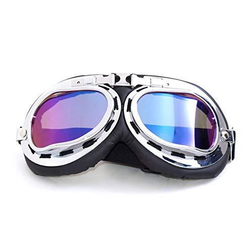 2756951e7a8 Gafas de Motocicleta Retro Vintage Pilot Flying Motorcycle Biker Motocross  Cruisers Eye Protect Casco Gafas