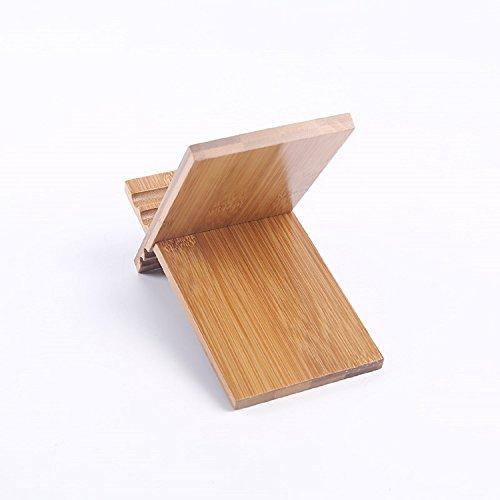 JUIANG Creative Desktop Bamboos Phone Holder Soporte de PC de Madera Maciza...