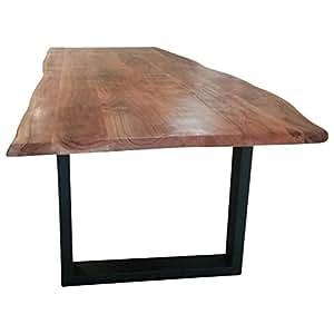 Esstisch baumstamm tisch baumkante akazie massivholz - Esszimmertisch baumstamm ...