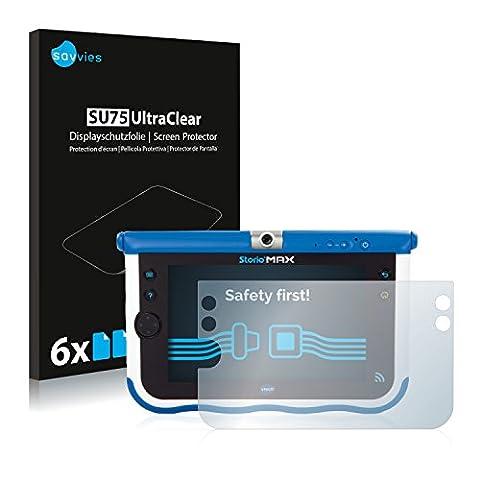 6x Savvies Film Protection pour Vtech Storio Max 7 (Bleu) Protection écran Film Protecteur Transparent