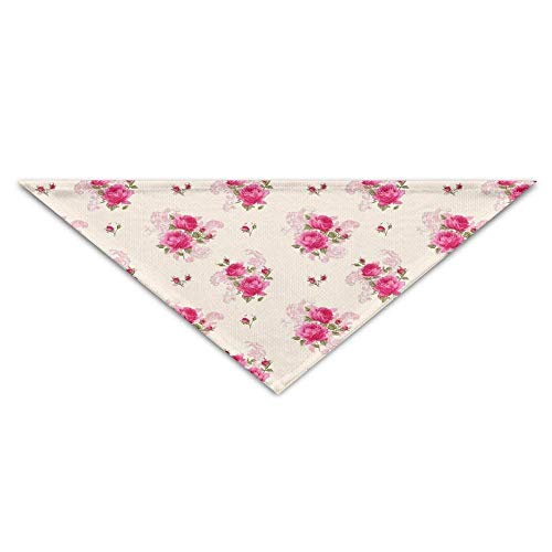 Wfispiy Cute Floral Rose PrintingDog Birthday Pet Bandana Collars for Dogs and - Wild Cat Girl Kostüm