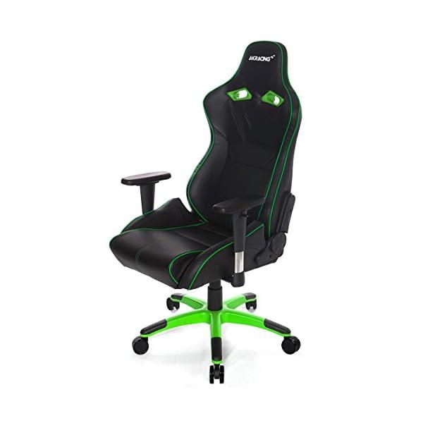 AKRacing NW – AK-NW-BG – Silla Gaming, Color Negro/Verde