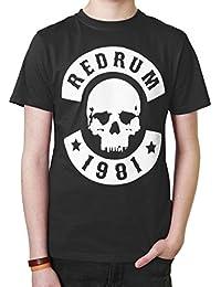 Redrum T-Shirt Oberteil Top kurzaermelig kurze Aermel 100% Baumwolle schwarz 1981