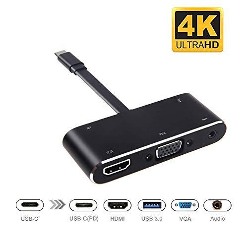 Preisvergleich Produktbild JYL USB C HUB Audio auf HDMI VGA USB 3.0 Adapter Dex Station für Samsung Galaxy S8 S8 Plus Note 8 Für Nintendo Switch MacBook Pro