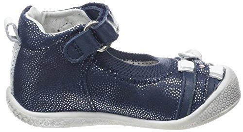 Babybotte Shifali, Baskets Hautes Fille Bleu (Marine Pois Argent)