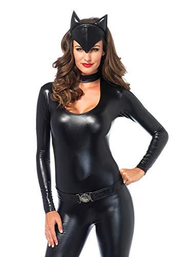 Leg Avenue 83767 - Frisky Feline Kostüm, Größe S, schwarz (Frisky Katze Kostüm)