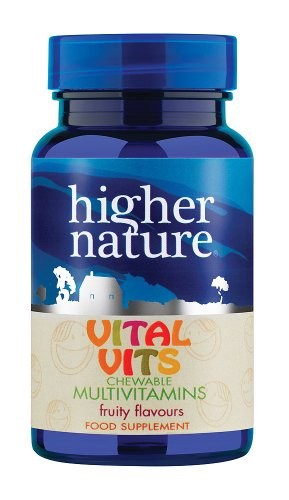 Higher Natürlich Vital Vits Kinder Kautabletten Multi Vitamine - Packung mit 90 Tabletten (Kautabletten Kinder-multi)