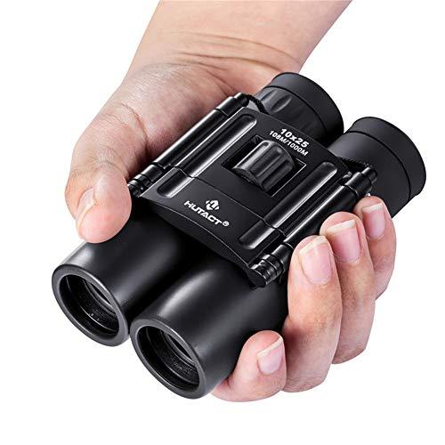 TLgf 10x25 Kompakt-Faltfernseher Reisen Mini-Teleskop einfach zu tragen Outdoor-Sportwandern...