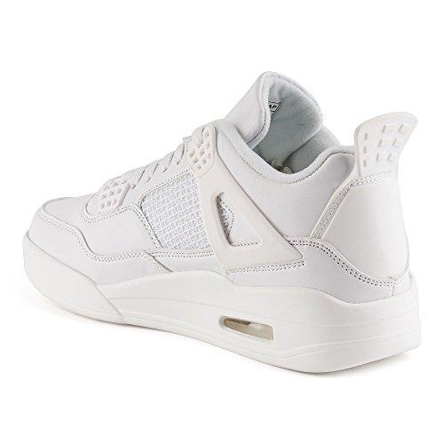 ... Fivesix Scarpe Sportive Da Uomo Sneaker Basse Scarpe Da Basket  Velour-optik Scarpe Casual Bianche fa0eff642ad