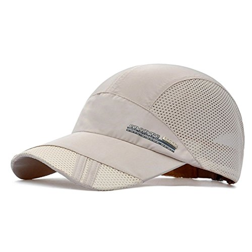 GADIEMENSS Quick Drying Breathable Running Outdoor Hat Cap Only 2 Ounces (LightGrey)