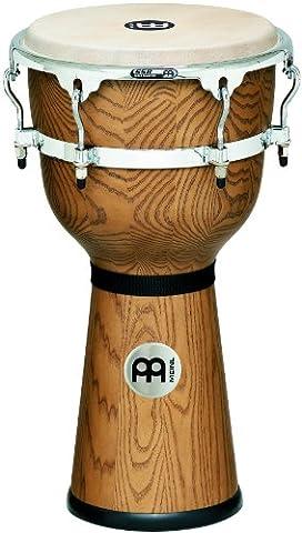 Meinl DJW3ZFA-M 12 inch Floatune Series Wood Djembe - Zebra Finished Ash