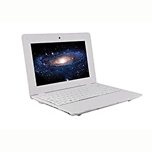 Soledpower® Ultra Slim 7 Inch Android Netbook Mini Laptop WIFI Android 4.4 1.5GHz 512MB Memory 4G Hard Disk Tablet PC,Black/White Color (White)