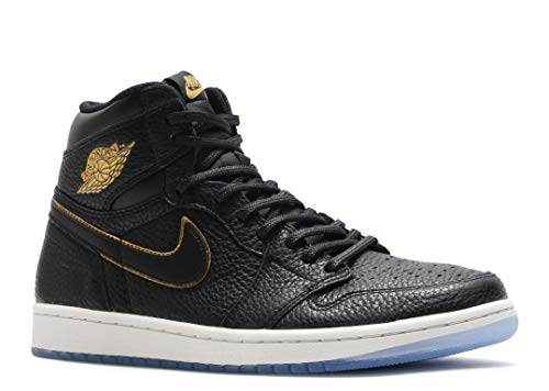 NIKE Air Jordan 1 Retro High Og Herren Basketball 555088 Sneakers Turnschuhe (UK 6.5 US 7.5 EU 40.5, Black metallic Gold 031)
