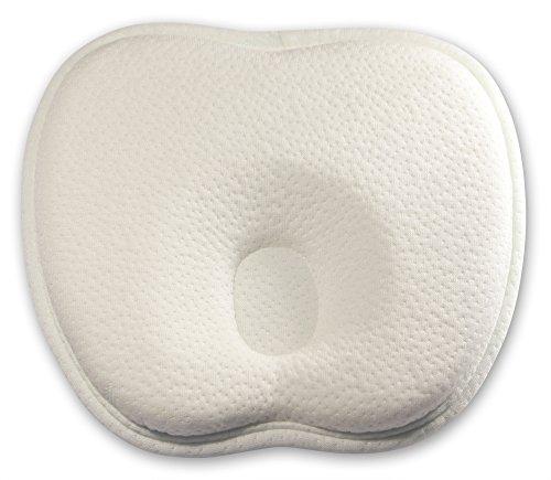 Baby-Kissen für eine natürlich schöne Kopfform – Luxura Active memory foam Baby-Kopfkissen aus hochwertigem Bambusstoff zur Vorbeugung eines Plattkopf / Verformung des Hinterkopfes